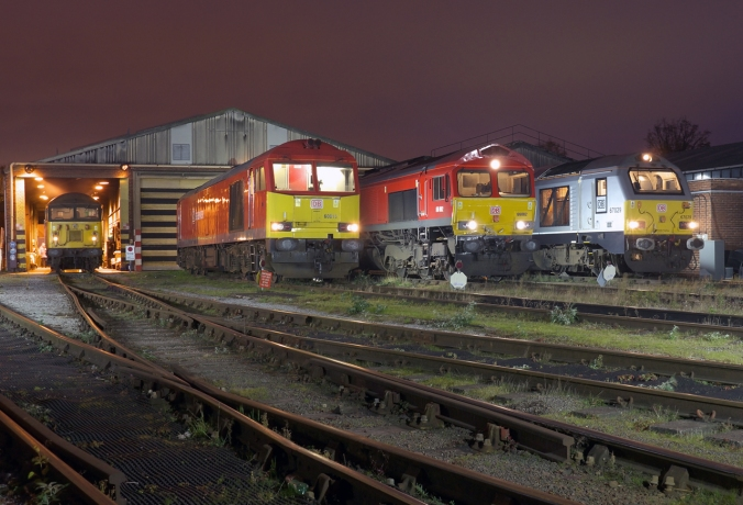 56303 60015 66082 and 67029 Knottingley Depot 2