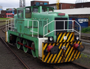 Appleby-Frodingham Steel Company number 1 (YEC Works No. 2877) at Scunthorpe Steelworks.