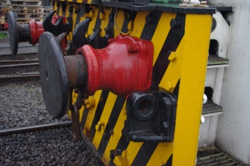 Janus Details - Buffers. Notice also the two extra drawhooks, for use with safety chains which some wagons featured on Scunthorpe steelworks.